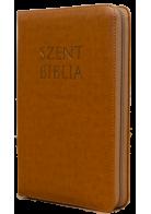 Patmos Biblia - Középes Barna mintás - Regiszteres - Cipzáras