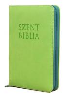 Patmos Biblia - Mini Almazöld - Cipzárral