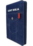 Patmos Biblia - Közepes Zsebes Farmer - Regiszteres + Cipzáras