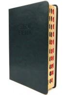 Patmos Biblia - Közepes Olivazöld - Regiszteres