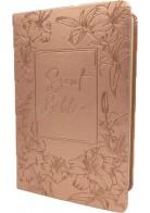 Patmos Biblia - Közepes Rosegold Virágos