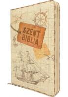 Patmos Biblia - Közepes Vintage Hajós - Regiszteres + Czipzáras
