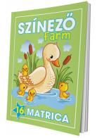 Színező - Farm (matricás)