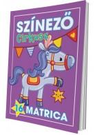 Színező - Cirkusz matricás