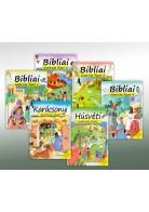Harmat Kiadó: Bibliai matricás füzetek 5 db- Karácsonyi illetve Húsvéti
