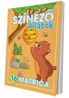 Színező - Állatok (matricás)