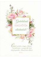 Képeslap - borítékos: Gratulálunk esküvőtök alkalmából!